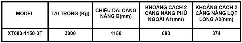 XE NÂNG TAY ICHIMENS 3 TẤN