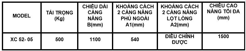 XE NÂNG TAY CAO ICHIMENS 500 KG (TẢI TRỌNG 500 KG)